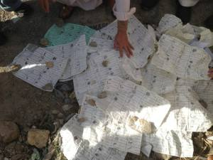 Ballot papers bearing votes of HDP found in trash dumps in Gulistan Town